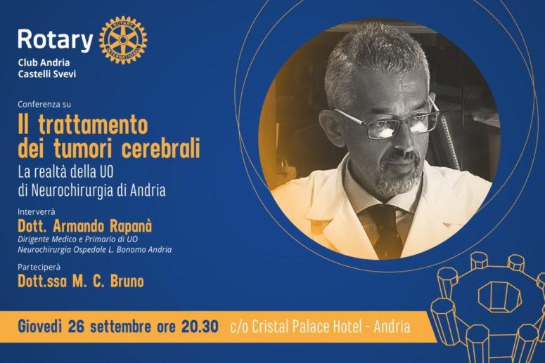 Rotary Club Andria_Il trattamento dei tumori cerebrali – la realtà della UO di Neurochirurgia di Andria