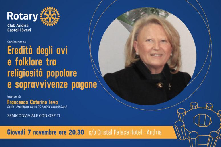 """Conferenza su """"Eredità degli avi e folklore tra religiosità popolare e sopravvivenze pagane"""""""