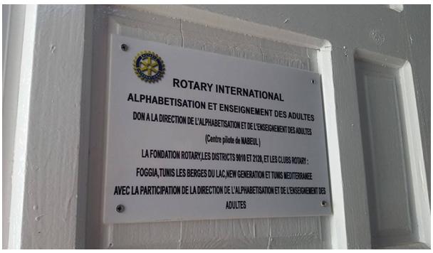Dalla Rivista Nazionale Rotary del mese di Settembre 2019_Il service GG Alfabetizzazione Foggia-Tunisi