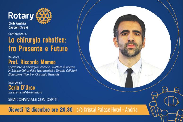 """Conferenza: """"LA CHIRURGIA ROBOTICA: fra Presente e Futuro """""""