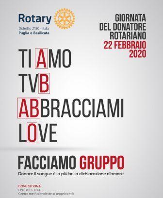 Giornata del Donatore Rotariano – 22 febbraio 2020