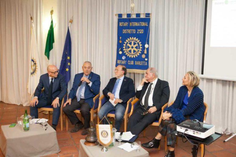 """RC Barletta Serata del 27 febbraio 2020   """"Il Cittadino nella integrazione dell'Unione Europea"""