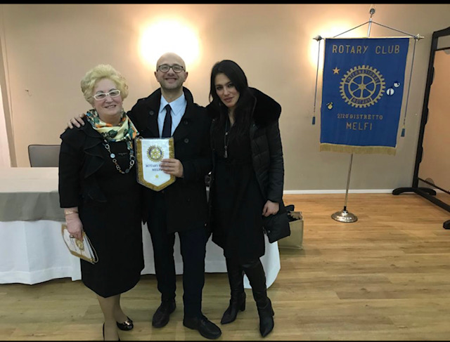 Il vincitore del Premio Basilicata 2019 al Rotary di Melfi