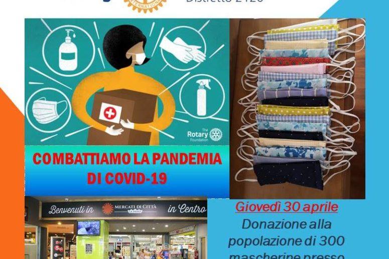 """Rotary Club Foggia """"Capitanata"""" impegnato nella sua marcia con la Città per la Città contro il coronavirus"""