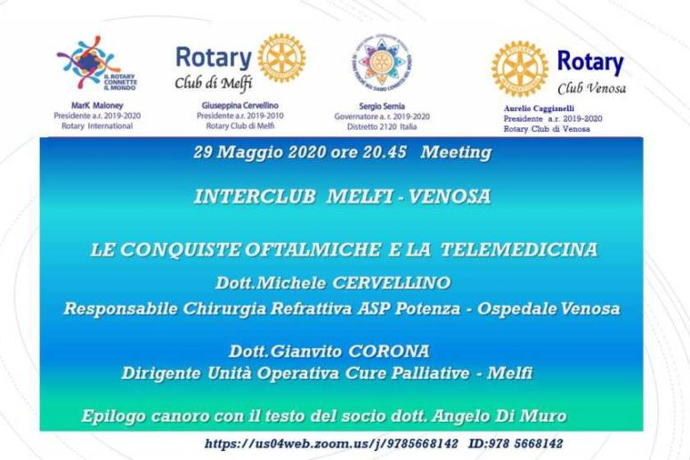 La telemedicina, la sanità in digitale  Interclub Rotary Melfi-Venosa