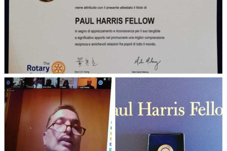 All'insegna del culto della storia e dell'Unità nazionale.  Attribuzione della PHF da parte del Rotary di Melfi al Prof. Lerra Antonio
