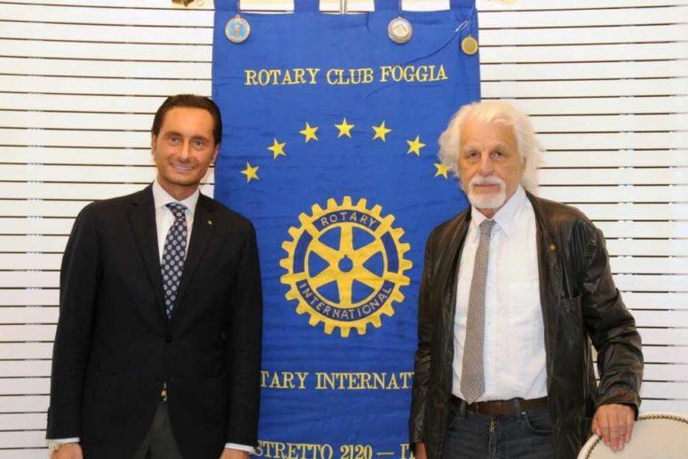 MICHELE PLACIDO SOCIO ONORARIO DEL ROTARY CLUB FOGGIA