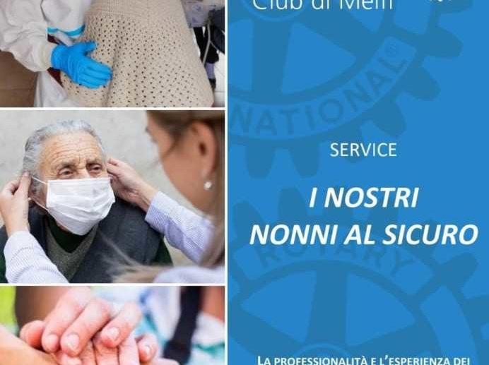 SERVICE NONNI AL SICURO. I ROTARIANI DI MELFI PER LE RSA