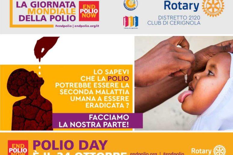 WORLD POLIO DAY: LA PARTECIPAZIONE DEL ROTARY CLUB CERIGNOLA