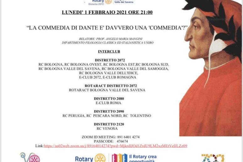 """INTERCLUB VENOSA/BOLOGNA: La commedia di Dante è davvero una """"commedia""""?"""