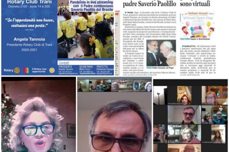 R.C. TRANI: PROGETTO LEGAL EMERGENZA ALIMENTARE PANDEMIA