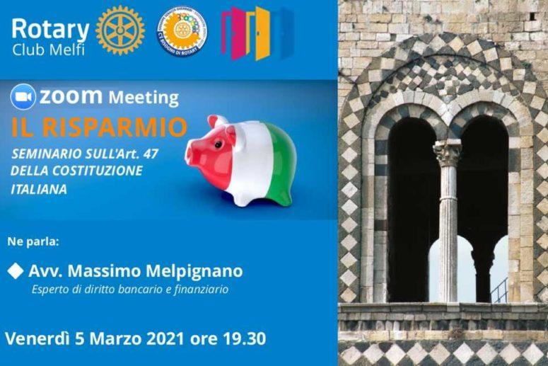 R.C. MELFI: IL RISPARMIO E L'ART. 47 DELLA COSTITUZIONE ITALIANA
