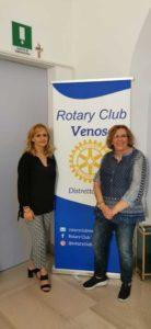La Presidente del RCVenosa e la Dr. Cinzia Marroccoli