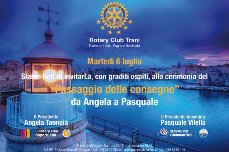PASSAGGIO DELLE CONSEGNE AL ROTARY CLUB TRANI