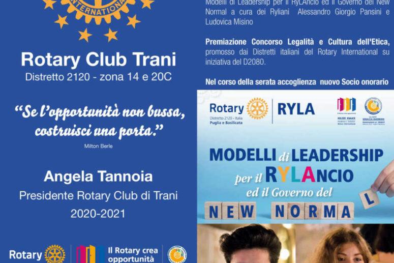 """R.C. TRANI. I """"RYLIANI"""" DEL CLUB RELAZIONANO AI SOCI SUL RYLA 2021"""