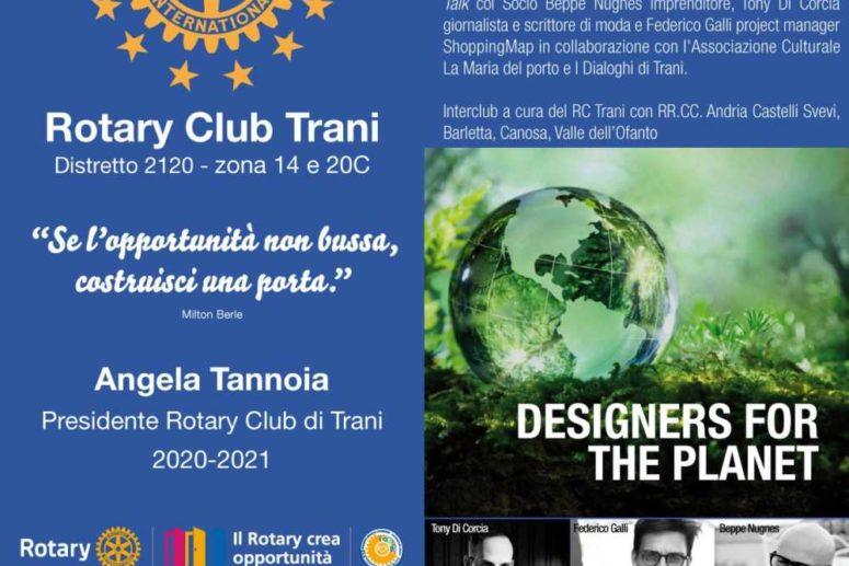 DESIGNERS FOR THE PLANET. MODA E SOSTENIBILITÀ AL ROTARY CLUB TRANI