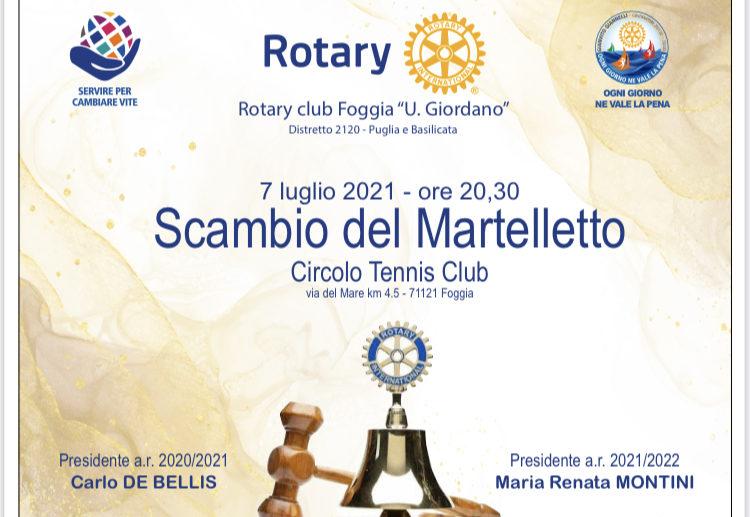 """SCAMBIO DEL MARTELLETTO AL R.C. FOGGIA """"U.GIORDANO"""""""